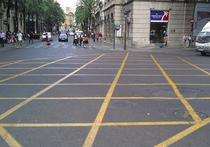 В Москве на перекрестках может появиться разметка в виде вафли
